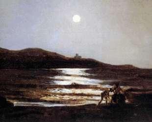 Вид из Санто Теренцо на Леричи ночью — Николай Ге