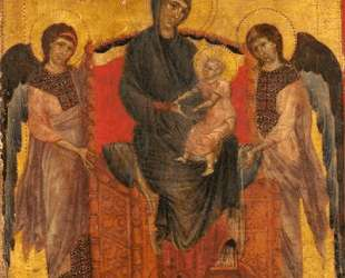 Богородица на троне с младенцем и двумя ангелами — Чимабуэ