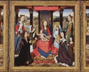Богородица и младенец со святыми и донаторами (Триптих Донна) — Ганс Мемлинг