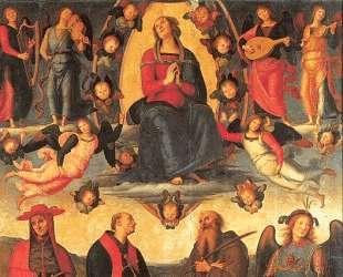 Дева Мария на троне, с ангелами и святыми. Алтарь Валломброза — Пьетро Перуджино
