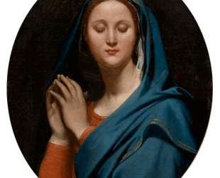 Богородица в синей вуали — Жан Огюст Доминик Энгр