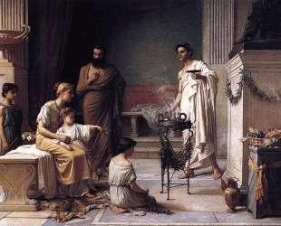 Приведение больного ребенка в храм Асклепия — Джон Уильям Уотерхаус
