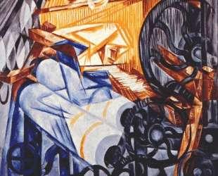 The weaver (loom+woman) — Наталья Гончарова