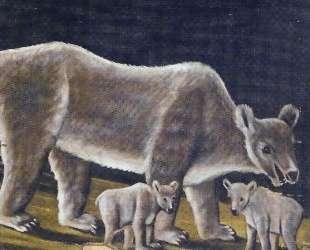 Белая медведица с медвежатами — Нико Пиросмани