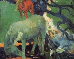 Белая лошадь — Поль Гоген