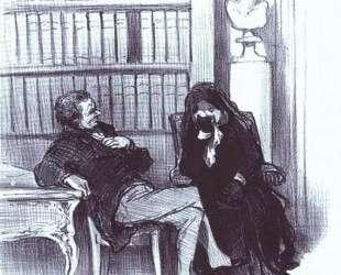 Вдова на консультации — Оноре Домье