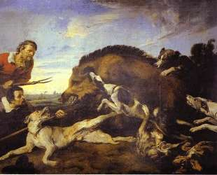 The Wild Boar Hunt — Франс Снейдерс