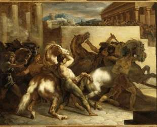 The Wild Horse Race at Rome — Теодор Жерико