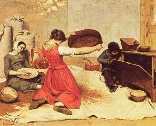 Просеиватели пшеницы — Гюстав Курбе