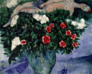 Женщина и розы — Марк Шагал