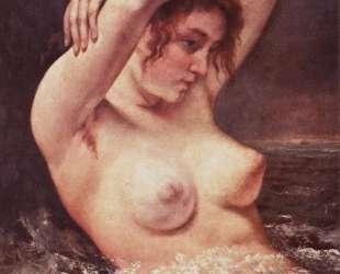 Женщина в волнах (Купальщица) — Гюстав Курбе