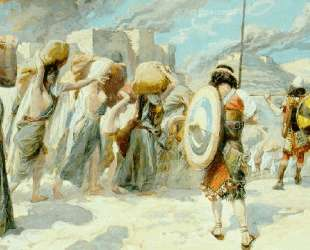 The Women of Midian Led Captive by the Hebrews — Джеймс Тиссо