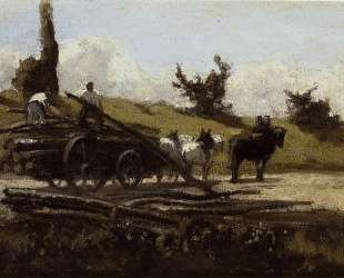The Wood Cart — Камиль Писсарро