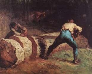 Пильщики — Жан-Франсуа Милле