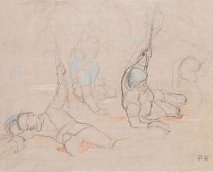 The wounded standard bearer Hans Baer — Фердинанд Ходлер
