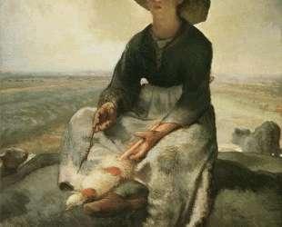 Молодая пастушка — Жан-Франсуа Милле