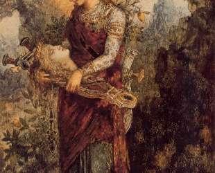 Thracian Girl Carrying the Head of Orpheus — Гюстав Моро