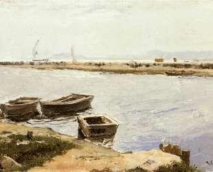 Three Boats By A Shore — Хоакин Соролья