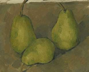 Three Pears — Поль Сезанн