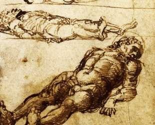 Three studies elongated figures — Андреа Мантенья