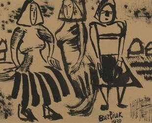 Три крестьянки — Давид Бурлюк