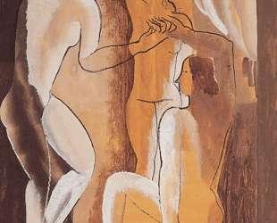 Three women in an interior — Осип Цадкин
