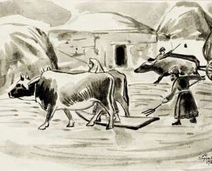 Threshing grain — Мартирос Сарьян