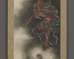 Thunder god, Edo period — Кацусика Хокусай