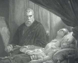 Tintoretto at the deathbed of his daughter — Тинторетто