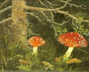Мухоморы под деревом — Николай Богданов-Бельский