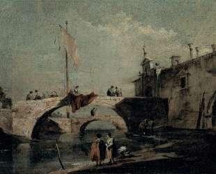 Town with a Bridge — Франческо Гварди