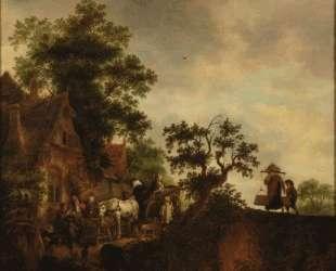 Travellers Halting at an Inn — Исаак ван Остаде