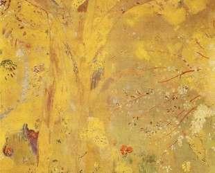 Tree Against a Yellow Background — Одилон Редон