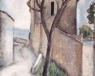 Дерево и дом — Амедео Модильяни