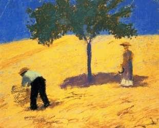 Tree in the cornfield — Август Маке
