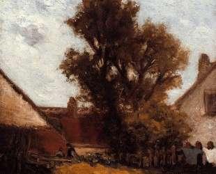 Дерево во дворе фермы — Поль Гоген