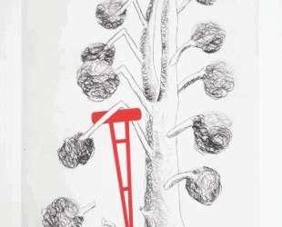 Дерево с красным костылем — Луиза Буржуа
