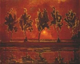 Деревья на Гейнев лунном свете — Пит Мондриан