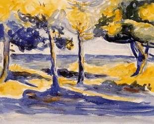 Trees by the Sea — Анри Эдмон Кросс