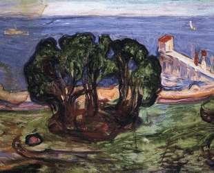 Деревья на берегу — Эдвард Мунк