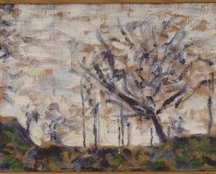 Деревья, зима — Жорж Сёра