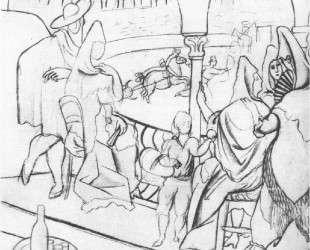 Tricorne (study) — Пабло Пикассо
