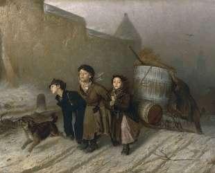 Тройка. Ученики мастеровые везут воду — Василий Перов