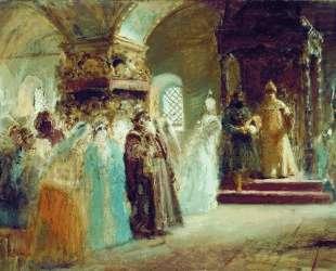 Выбор невесты царем Алексеем Михайловичем — Константин Маковский