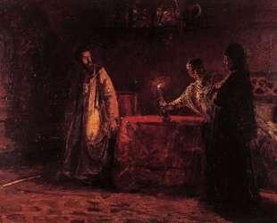 Царь Борис и царица Марфа — Николай Ге