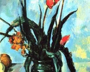 Tulips in a Vase — Поль Сезанн