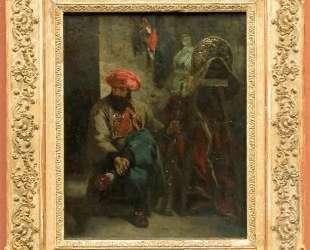 Турок с седлом — Эжен Делакруа