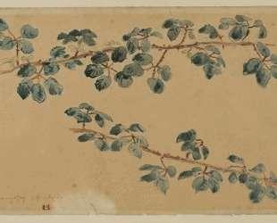 Две ветви с листьями — Эжен Делакруа