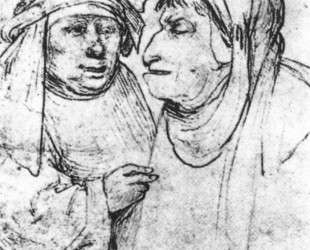 Две карикатурные головы — Иероним Босх