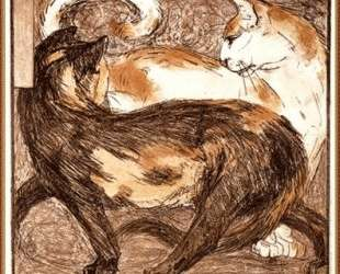 Two cats — Франц Марк